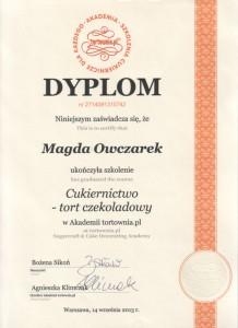 Dyplom cukiernictwo - tort czekoladowy tortownia.pl