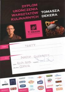 Dyplom Tomasz Deker Tarty